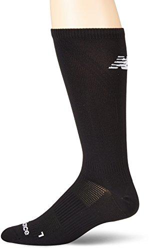 New Balance Flat Knit Running Crew Sock- 1 Pair schwarz, Large