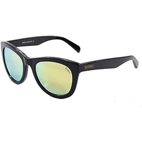 Oversized Cornuto Rim Cateye Sunglasses specchio protezione UV400 sicuro Sunglasses-SH5010