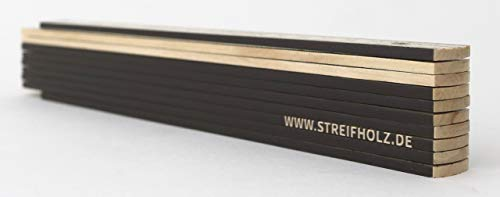 Zollstock aus Holz mit Winkelfunktion & 90° Rastung, STREIFHOLZ DESIGN
