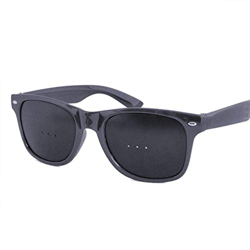 Aeightam Black Pinhole Single Nose Glasses Mikroporöse Anti-Ermüdungs-Schutzbrille Sicherheits-Swap-Hybrid-Augenschutzbrille (Color : Black Three