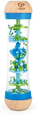 Hape blå regnmaskin, musikleksak, 5.69 x 5.69 x 20.32 cm