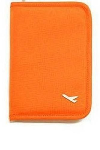 CONNECTWIDE® Travel Wallet Passport Holder Document Organizer Storage Bag Case Small (Orange), 15 Litre  available at amazon for Rs.225