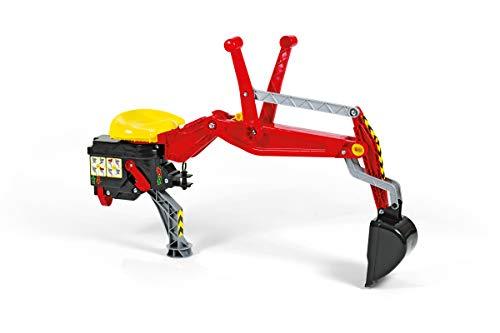 Rolly Toys Zubehör Rolly Toys 409327 - rollyBackhoe Heckbagger (Alter 2,5 - 10 Jahre, Aufsitzbagger, mit Stützfuß, für Heckkupplung)
