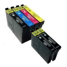 Odyssey Supplies®–Compatible Ink Cartridges for Epson printers xp30, xp102, xp202, xp205, xp212, xp215, xp312, xp315, xp412, xp415, xp305, xp405, xp-30, xp-102, xp-202, xp-205, xp-212, xp-215, xp-312, xp-315, xp-412, xp-415, xp-305, xp-405 6 pezzi (1 set + 2 nero)