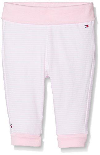 Tommy Hilfiger Baby-Mädchen Hose Striped Jersey Knit Pant Rosa (Ballerina 612), 62 (Pants Knit Jersey)