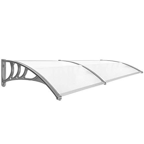 Primematik - pensilina tettoia in policarbonato per porta o finestra per esterno grigio 200x80cm