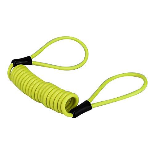 GOTH Perhk 1,2 M Motorrad Erinnerung Kabel Disc Kabel Mahnung Kabel diebstahlSchutz am PVC&Legierung (Gelb, Seil) - Leichter Goth