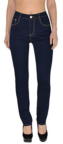 by- tex Damen Jeans Hose Damen High Waist Jeanshose Straight Leg Hochbund Hosen bis Übergröße 54, 56 #J23 (Size Plus Elasthan Jeans)