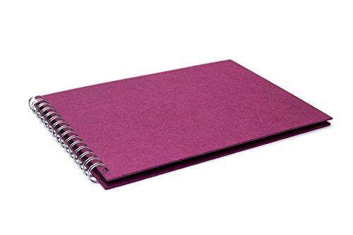 Pink Pig A4orizzontale scrapbook | carta riciclata, nero, 20fogli Mulberry