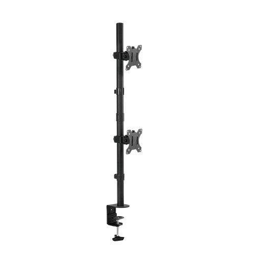DUAL Tischständer Monitorständer für 2 LED LCD Monitore VESA 75 100 Modell HALTERUNGSPROFI C03V (2 Monitore) -