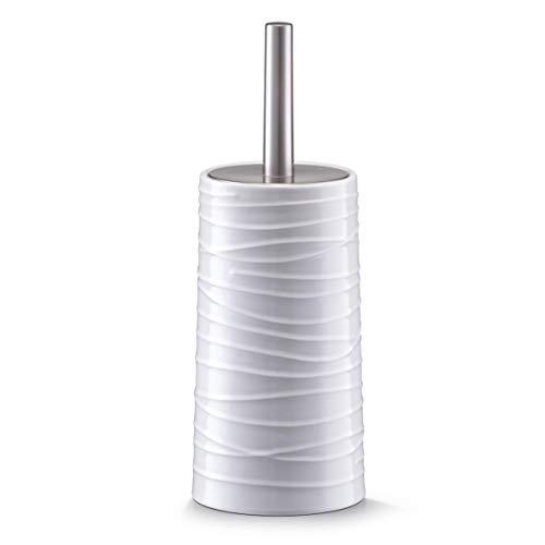 Zeller 18267 Scopino per WC, Ceramica, Bianco, 0.1x11.5x32 cm