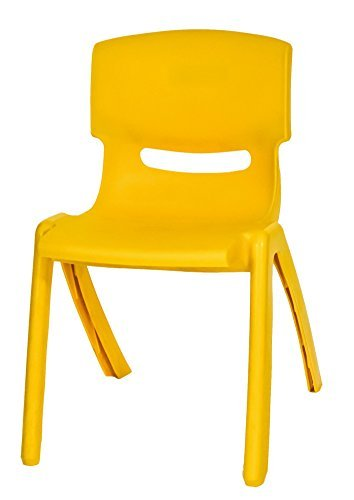 Sedia in Plastica Gialla di Alta Qualità Impilabile per Bambini