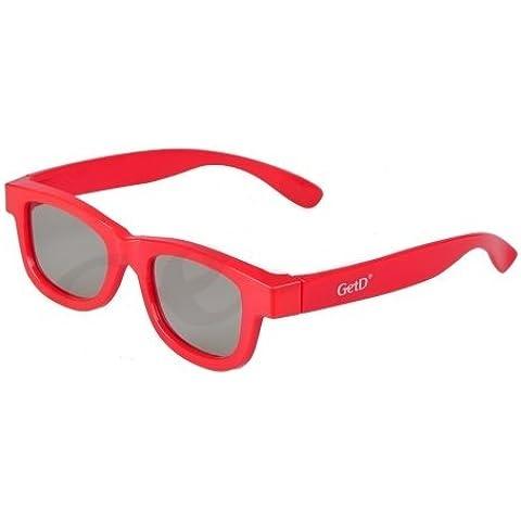 Usan de 2 pares de Red pasiva gafas 3D para niños niños Universal para todos los cine TVs 3d pasivo y