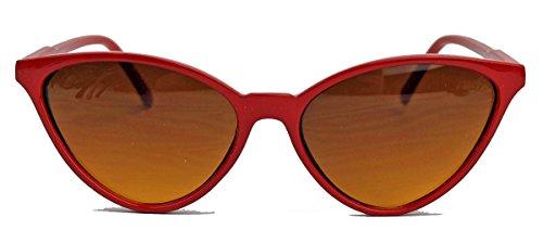 kleinere filigrane Damen Brille im 50er 60er Jahre Cat Eye Stil Sonnenbrille oder Nerdbrille C78...