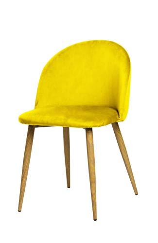 Silla amarilla vintage estilo español