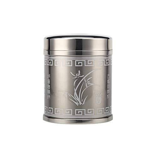 AUGAUST 304 cuve de Stockage en Acier Inoxydable à Double Couvercle de cachetage Stockage Multi-Taille de thé de Casse-croûte de Sucrerie de Fruits séchés (Couleur : Silver, Taille : S)
