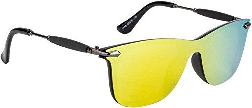 Xforia Boy Stylish Sunglass Yellow Mercury Wayfarer Sunglasses For Men & Women (UV Protected)