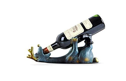 Soporte para Almacenamiento de Exhibición de Vinos Decorativos, Ciervos, Mostrador de Botellas...