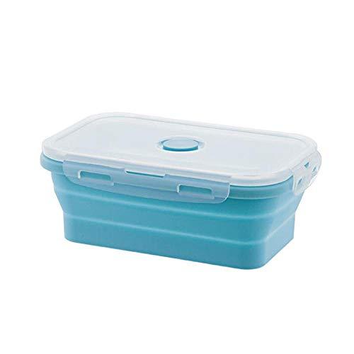 AOLVO Boîtes Hermétiques Rétractables,Récipients Alimentaires en Silicone,Déjeuner Bento Box,sans BPA|Économie d'espace|Étanche à l'air|Four à Micro-Ondes,Réfrigérateur et Lave-Vaisselle,800 ML