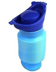 JUNQL& Mini retráctil tocador urinal móvil emergencia de viaje al aire libre portátil - azul
