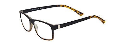 Select-A-Vision Unisex-Adult Tri Focus Readers 2201BD-300 Square Reading Glasses, black Demi, 3