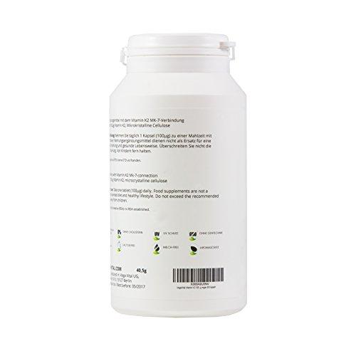 Vegavero Vitamin K2 MK7 50 µg | 90 Kapseln | Hochpotent | Alltrans | Blut - Herz - Immunsystem | Vegan | Vegavero: from Nature - with Passion - for You!