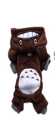 KINGDUO Hp-Pc1 Haustier Katze Hund Kostüm Weiche Warme Kleidung Cartoon Totoro Hoodie Mäntel Vier Bein Overall-Braun - Hewlett Packard Kostüm
