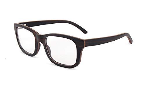 Lindan shangmao Leopardenmuster männer Hohe Qualität Holz Brille Katzenaugen Rahmen Gläser Künstlerische Handgemachte Freizeit Brillen (Farbe : Schwarz)