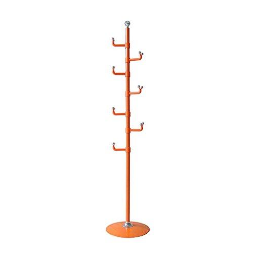 QHD Coat Rack Sol En Bois Massif Européen Créatif Chambre Salon Vertical Simple Assemblage De Cintres En Bois Modernes (Couleur : Orange)