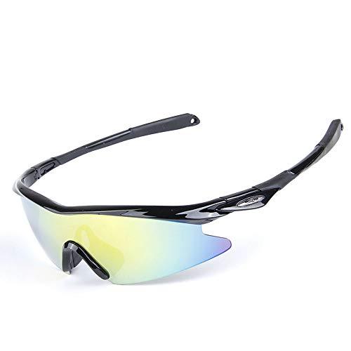 Owenyang Polarisierte Sportsonnenbrille Polarisierte Sport-Sonnenbrille UV400 Schutz für Laufen/Radfahren/Skifahren/Snowboarden 2 Farben Radfahren Brille Sonnenbrille Anti-Fog Ideal zum Fahren