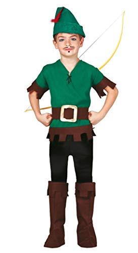 Fancy Me Jungen Wald Dieb Robin Hood TV Film Büchertag Kostüm Kleid Outfit 5-12 - Grün, Grün, 7-9 Years