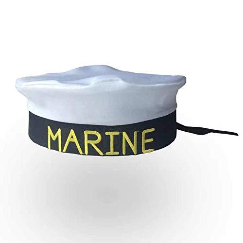 thematys Matrosen-Mütze Marine Herren Damen - Kostüm für Erwachsene & Kinder - perfekt für Fasching & Karneval - Einheitsgröße ()