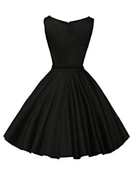 Classy Vintage 1950's Audrey Hepburn Style Rockabilly Swing Picnic Party Prom Dress Medium Color 13 1