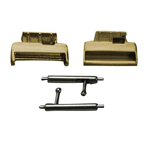 stahl Stahl Gurt Band Stecker Adapter Schnalle Für Fitbit Inspire HR (Gold) ()