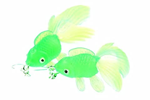 Goldfish earrings Betta fish aquarium fish Miniblings Koi neon green