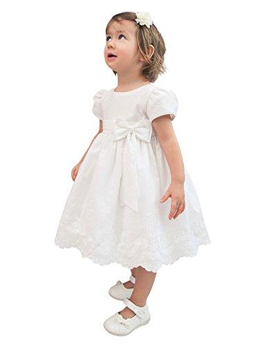 Robe de Baptême Bébé Fille - Blanc - 12 Mois Boutique-Magique