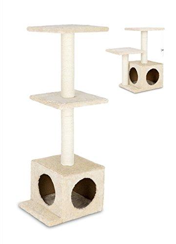 animal-design Katzen Kratzbaum klein & stabil beige Sisal - Höhe 61 cm oder 97 cm