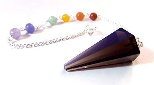 FumÉ quarzo pendolo curativo protezione sfaccettata gemma chakra catena