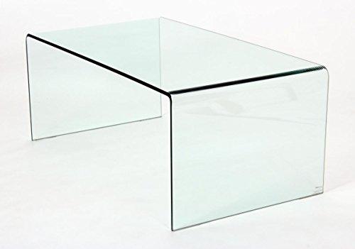 Furniturevilla - Mesa de Centro de Cristal Templado de 12 mm, 1100 ...