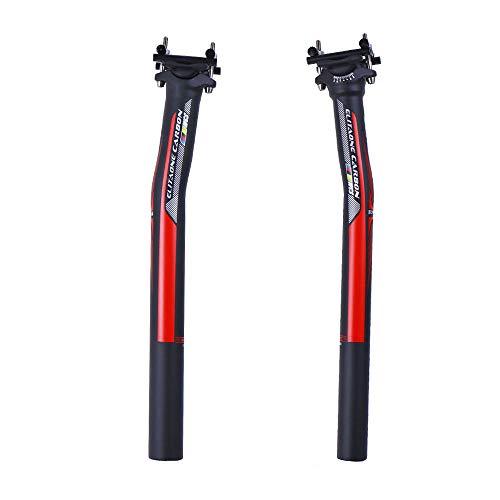 QIKU Carbon Sattelstütze Bike Road/MTB Fahrrad Setback Sattelstützen 135g UD Matte 27,2/31,6 * / 350/400 mm Fahrradteile (27.2 * 350mm)