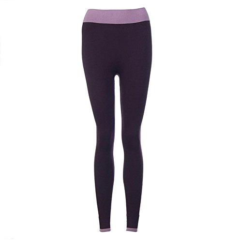 ★★2017 Ularmo® Femmes Yoga Pants Fitness Aptitude Leggings Taille Haute Patchwork Maigre Faire Monter Tondu Sport Pantalon ★★ Violet