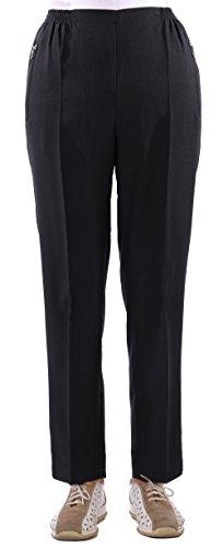 Eitex Damen Seniorenhose Schlupfhose mit Gummizug Kurzgröße ideal für pflegebedürftige Omas einfach anzuziehen und super pflegeleicht (48/50, schwarz)