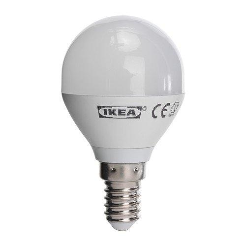 IKEA LEDARE LED Lampe E14; rund; in opalweiß; 200 Lumen