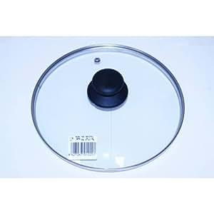 VITRINOR en Couvercle en verre avec bord en acier inoxydable 22cm de diamètre