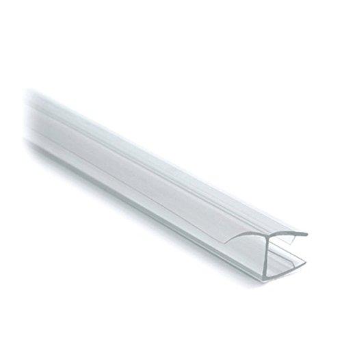 Lippendichtung für Glastür, L 2500 mm für Glasstärke 8 mm