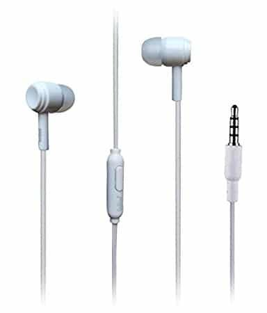 Nokia 515 Dual SIM Compatible Wired Headphone/Earphone (white) In-ear Volume Controller and Music Controller for all Smartphones by Sublicart  available at amazon for Rs.199