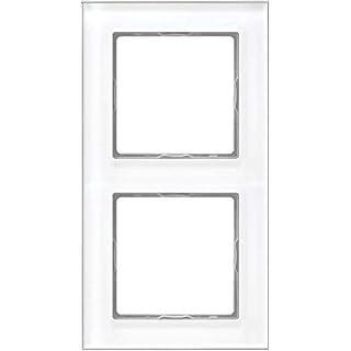 Jung Rahmen Glas 2fach Serie A Creation alpinweiß, 1 Stück, AC 582 GL WW