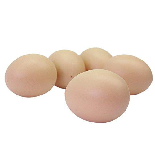 5x Plástico Huevos Falsos Gallina Simulación Juguetes de Bebes Ninos