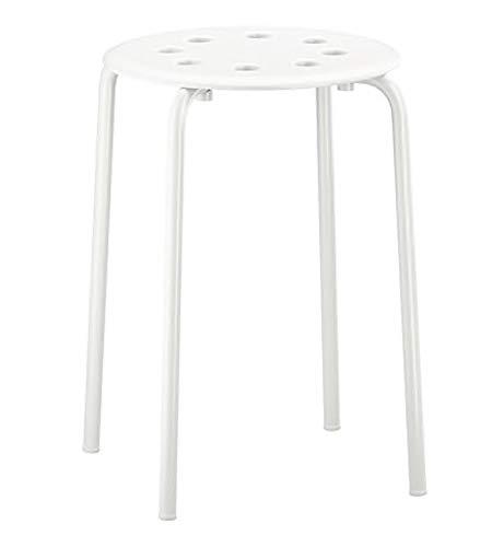 Ikea Marius Hocker in weiß; stapelbar; (45cm)