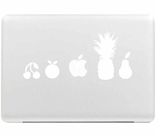 caroki New Art Abnehmbare Vinyl Aufkleber Aufkleber Skin für Apple MacBook Ananas
